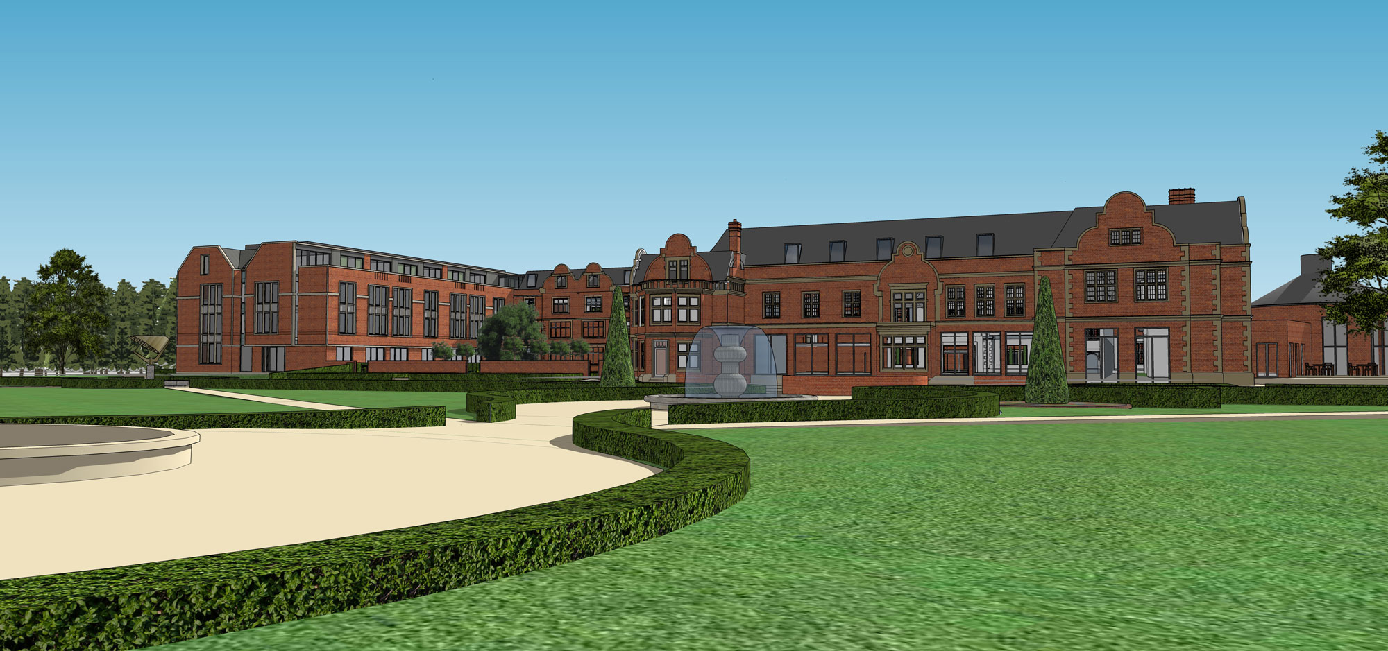 Savill Court Hotel Surrey Conversion And Extension To